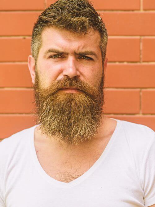 Bearded Man Facial