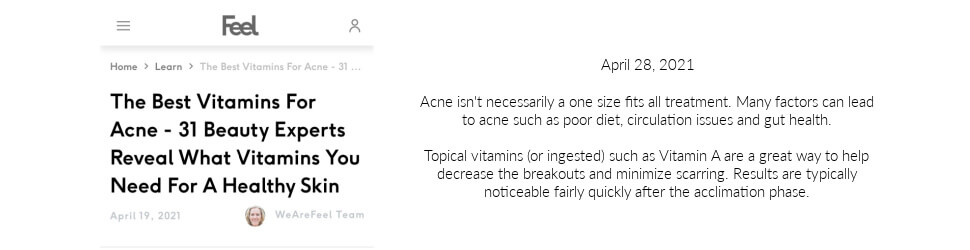 Kerry Spindler vitamins for acne we are feel
